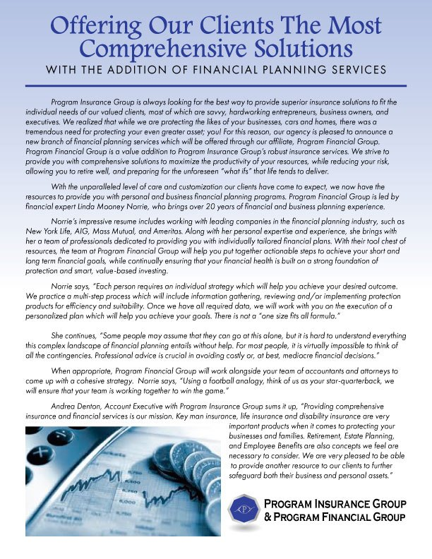 Introducing Program Financial Group